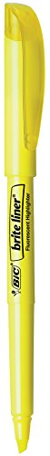 BIC Highlighter Chisel Yellow 24 Count