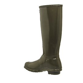 Hunter Womens Original Tall Gloss Synthetic Boots Swamp Green
