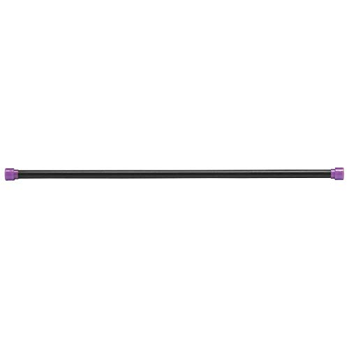 Body-Solid Tools Weighted Bar, 6 Pounds, Purple