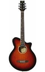 JB Player JBEA35N Acoustic Electric Guitar, Natural (Jb Player Acoustic Electric Guitar)