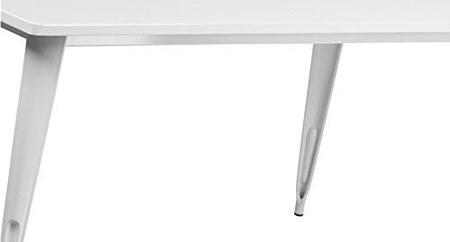 Flash Furniture 31.5'' x 63'' Rectangular White Metal Indoor-Outdoor Table by Flash Furniture (Image #1)
