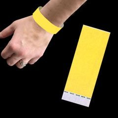 Neon Yellow Paper Wristbands 500ct ()