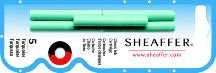 Sheaffer Skrip Fountain Pen Ink Cartridges Turquoise - Pack of Five (Pen Ink Sheaffer)