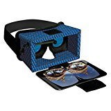 Smart Theater Virtual Reality Deluxe Cardboard Headset – Blue + 100's Free Apps
