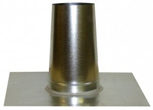 Metal-Fab Aluminum Flat Tall Cone Roof Flashing - 8 Inch -