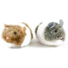 Vibro Chasing Toy for Cats ,white-brown mouse
