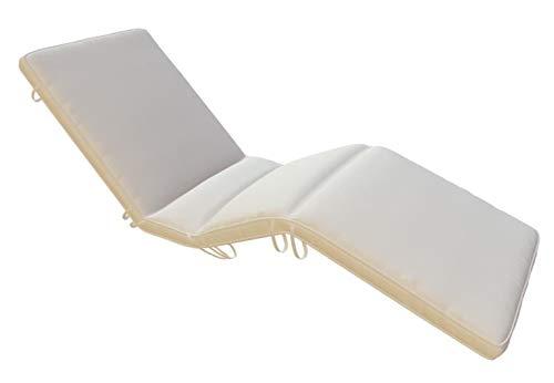 Royal Teak Collection CUSBW Sun Bed Cushion, White