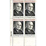 1973 HARRY S TRUMAN #1499 Plate Block of 4 x 8 cents US Postage Stamps