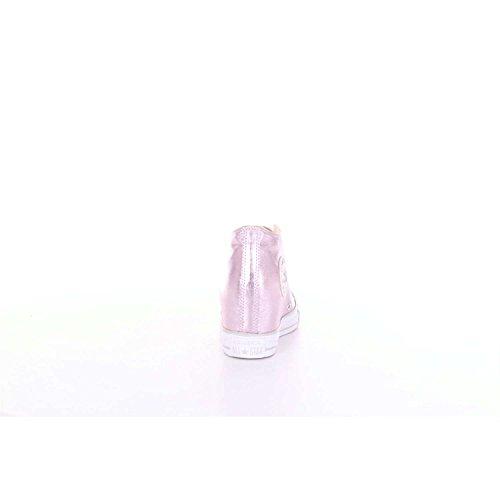 Zeppa Converse Scarpe Donna Ctas Converse Mid Lux Laminato Rosa Interna Argento 8xwqZ68r