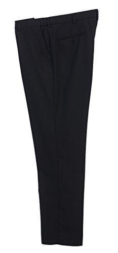 Price comparison product image Gioberti Men's Hidden Expandable Waist Dress Pants,  Black B,  Size 29-30