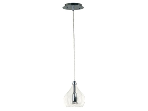 Bubbles One-Light Mini Pendant with 6-Inch Clear Glass Bubble Shade (Pendant Indoor Clear Bubble)