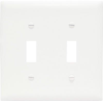 Pass & Seymour Tpj2-W Wht 2G 2Tog Jumbo Plate ()