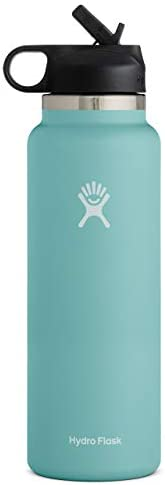 Hydro Flask Water Bottle - Wide Mouth Straw Lid 2.0 - Multiple Sizes & Co