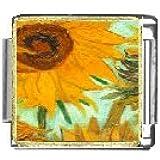 Sunflower Close Up Italian Charms Bracelet Link