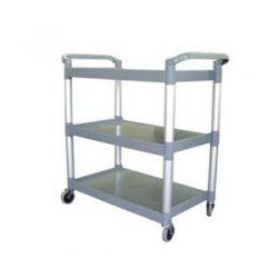 Plastic Catering Trolley 3 Tier / Serving Trolley / Clearing Trolley by Chabrias Ltd