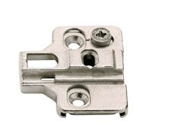 A-series Clip Mounting Plate, Zinc, Die-cast, Cam Adjustable, for Woodscrews