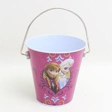 Disney Princess Pail - Disney Frozen Anna & Elsa Frozen Princesses Tin Bucket Party Favor