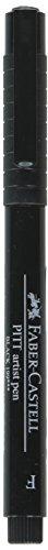 A.W. FABER CASTELL USA FC800011T Pitt Artist Pen Fine Bc, Black