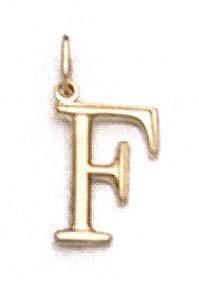 "Pendentif initiale F 14 carats 11/16 ""- JewelryWeb"