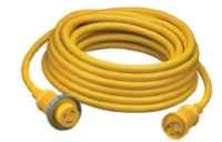 Hubbell HBL61CM03 Marine Cable, 25', 30 amp, 125V, Yellow (Pack of 1) ()