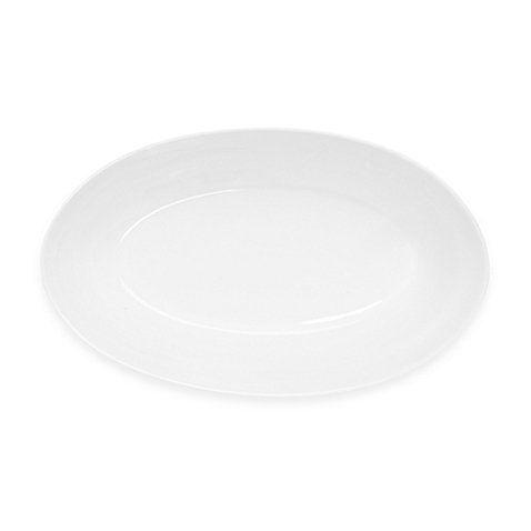 Nevaeh Deep Oval White Serving Bowl, 12-Inch by Fitz and Floyd