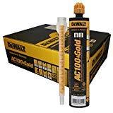 (10 oz. Dewalt AC100+ Gold Quik-Shot Acrylic Epoxy Adhesive Anchoring System (Case of)