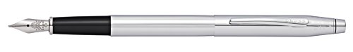 Cross Classic Century Lustrous Chrome Fountain Pen with Stainless Steel Fine Nib