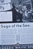 Advertisement for the Cunard White Star Line: Saga of the Sea