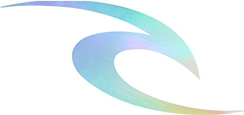 ANGDEST RIP CURL Surfing (Hologram) (Set of 2) Premium Waterproof Vinyl Decal Stickers for Laptop Phone Accessory Helmet Car Window Bumper Mug Tuber Cup Door Wall Decoration ()