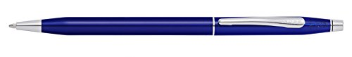 Cross Classic Century Translucent Blue Lacquer Ballpoint Pen with Chrome Appointments (AT0082-112) ()