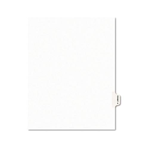 AVE01382-11 x 8 1/2 - Avery Legal Index Divider, Exhibit Alpha Letter, Avery Style - Pack of 25