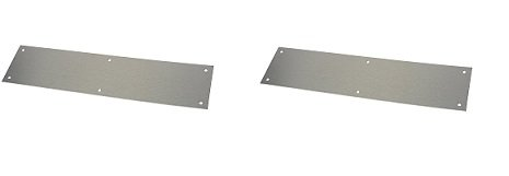 Rockwood 70A.32D Stainless Steel Standard Push Plate, Four Beveled Edges, 12'' Height x 3'' Width x 0.050'' Thick, Satin Finish (2-Pack)