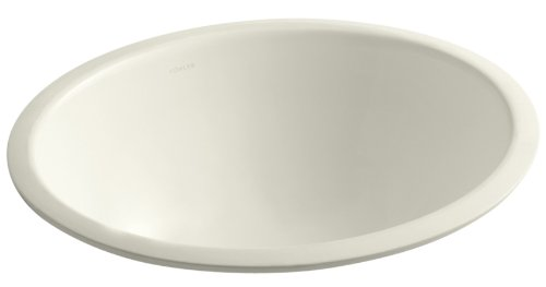 KOHLER K-2205-96 Caxton Undercounter Bathroom Sink with Center Drain, Biscuit (Caxton Biscuit Kohler)