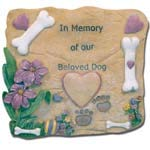 BANBERRY DESIGNS Pet Memorial Garden Stone – In Memory of our Beloved Dog – Dog Memorial Stone – Sympathy Gifts Review