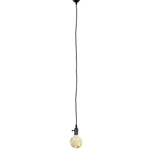Judy Lighting - Single Socket 6.56FT Hardwire Pendant Light Hanging Light Fixtures with (Pendant Light Hardwire Kit)