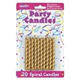 20 Pkg ~ Culpitt Gold Spiral ~ Cake Decorating Candles ()