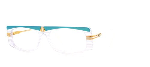 Cazal 192 289 Blue and Clear Authentic Women Vintage Eyeglasses - Cazal Vintage Glasses