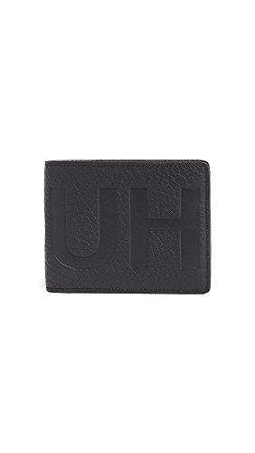Hugo Hugo Boss Men's Victorian Logo 6 Credit Card Leather Wallet, black, One Size