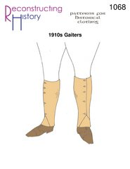 [1910s Gaiters or Spatterdashes Pattern] (1910 Costumes)