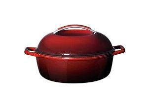 Delightful KitchenAid 12 Inch Cast Iron Chicken Fryer, Garnet
