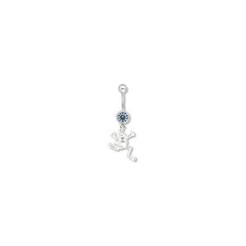 Dangling Belly Frog Ring Button - Painful Pleasures 14g 7/16