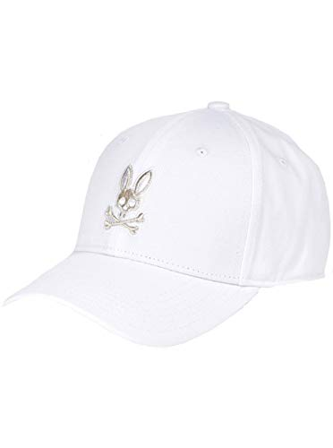 Psycho Bunny Men's Heritage Baseball Cap White One Size