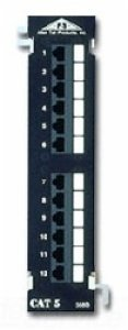 Allen Tel Products AT55B-12PT 12 Ports, 568A / 568B Wiring, 1 Rack Unit, 110 Termination, Two 6 Port Non-Keyed Jack Modules Category 5e Patch Panel ()