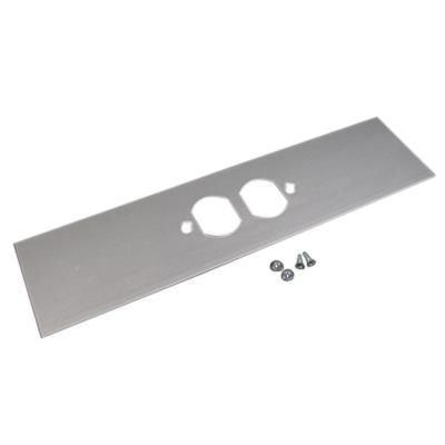 Aluminum Cover Plate - Wiremold ALA-DR Duplex Receptacle Cover Plate 12 Inch x 3 Inch Aluminum Satin Anodized