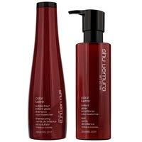 Shu Uemura Art of Hair Color Lustre Duo Set: Brilliant Glaze Shampoo 300ml and Conditioner 250ml For Colour Treated Hair