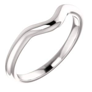 - Jambs Jewelry 10K White Band for 9x7 mm Oval Ring
