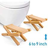 Taillansin Squatting Toilet Stool Fodable Bamboo Wood Bathroom Poop Stool 6