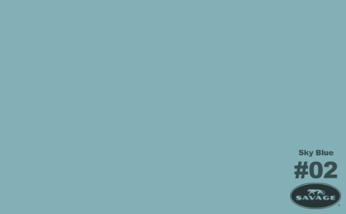 Savage Background Paper 53 in. x 12 yd. roll sky blue