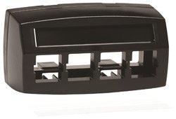 - M14CE-E-003 - Systimax M14CE-E Type Furniture Faceplate, 4-port Black, Pack of 2