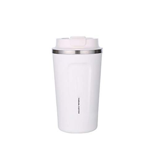 DDUUOO Acero Inoxidable 304 Taza de café Termo Taza con Tapa ...